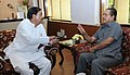 The Chief Minister of Mizoram, Shri Lal Thanhawla meeting the Minister of State for Culture (Independent Charge), Tourism (Independent Charge) and Civil Aviation, Dr. Mahesh Sharma, in New Delhi on September 29, 2015.jpg