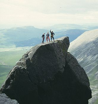 J. Norman Collie - Climbers on the Cioch, Isle of Skye