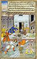 The Destruction of Daksha's sacrifice, from an illustrated manuscript of the Razmnama.jpg