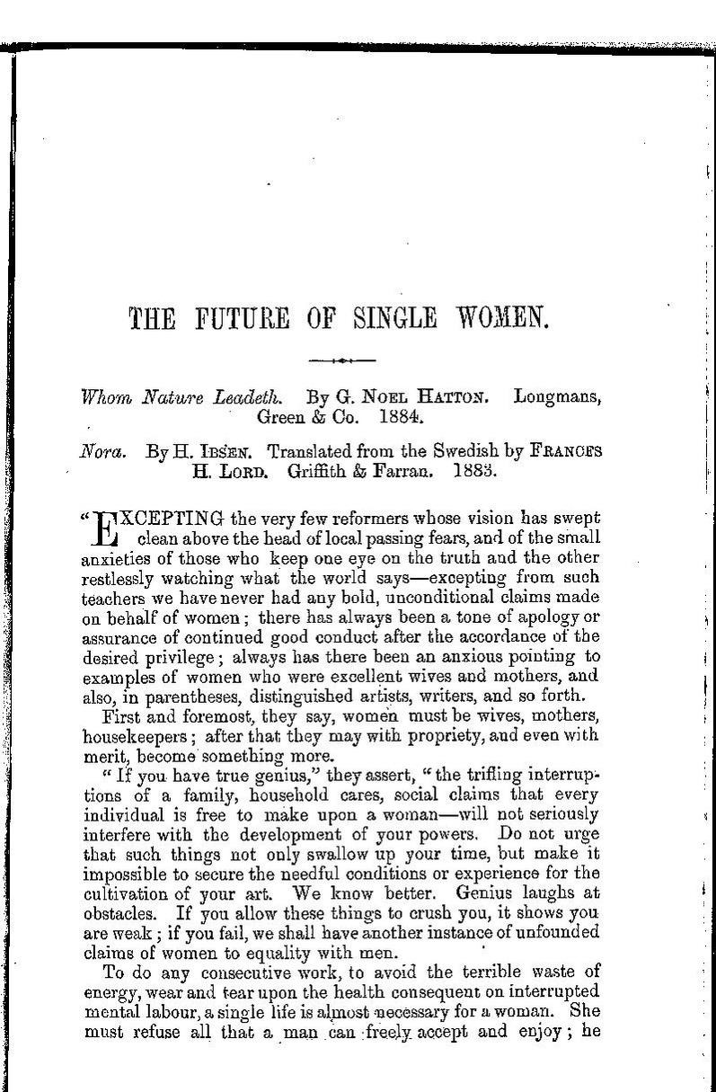 The Single Woman Pdf