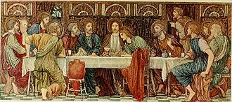 The Last Supper: panel in St Chad's Church, Kirkby The Last supper.jpg