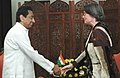 The Minister for Economic Affairs and Energy of the German Federal State of North Rhine-Westphalia, Mrs. Christa Thoben meeting with the Union Minister for Commerce & Industry, Shri Kamal Nath, in New Delhi on March 23, 2007.jpg