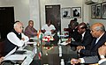 The Minister of Energy, Water and Natural Resource, Djibouti, Dr. Foud Ahmed Aye, alongwith a delegation meeting the Union Minister for New and Renewable Energy, Dr. Farooq Abdullah, in New Delhi on August 23, 2011.jpg