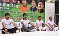 The Minister of State for Youth Affairs & Sports and Information & Broadcasting (IC), Col. Rajyavardhan Singh Rathore and other dignitaries participates in the mass yoga demonstration (4).JPG