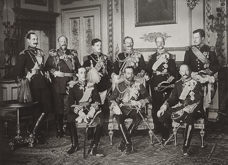 The Nine Sovereigns at Windsor for the funeral of King Edward VII.jpg