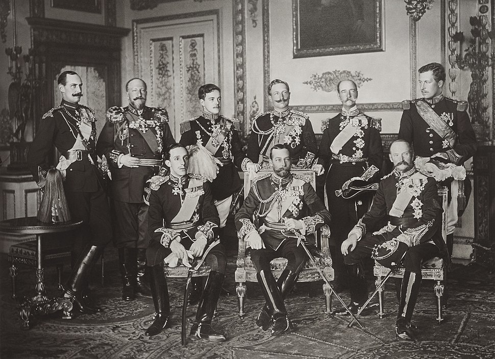 The Nine Sovereigns at Windsor for the funeral of King Edward VII