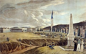 The Plain (West Point) - Image: The Plain at West Point in 1828