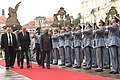 The President, Shri Ram Nath Kovind inspecting the Guard of Honour, during the ceremonial welcome, at 1st Courtyard, in Prague, Czech Republic.JPG