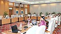 The Prime Minister, Shri Narendra Modi chairing a high-level meeting to review the progress of the monsoon, in New Delhi on June 26, 2014.jpg