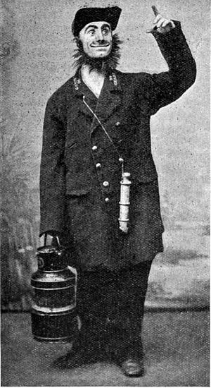 "Dan Leno - ""The Railway Guard"", 1890"