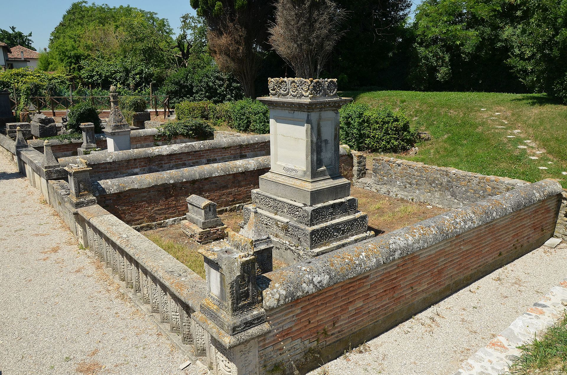 The Roman necropolis dating between the 1st and the 3rd century AD, it comprises of five burial enclosures containing numerous cremation and inhumation burials, Aquileia, Italy (20742333460).jpg
