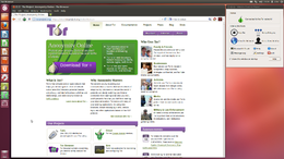 The Tor Browser Showing The main Tor Project page.png
