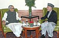 The Vice President, Shri Bhairon Singh Shekhawat calls on the President of Afghanistan, Mr. Hamid Karzai, in New Delhi on April 10, 2006.jpg