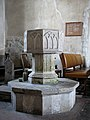 The church of St Andrew in Frenze - C14 baptismal font - geograph.org.uk - 1765780.jpg