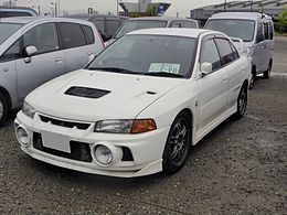 The frontview of Mitsubishi LANCER Evolution IV GSR.JPG