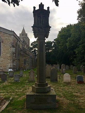 Hambleton Hall - The grave of Walter Marshall in the graveyard of St Andrew, Hambleton