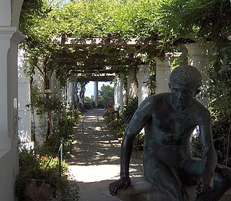 Villa San Michele - Image: The loggia at Axel Munthe's Villa San Michele 2005