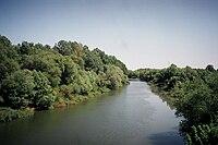 The river Körös near the Hungarian town Mezőberény.jpg