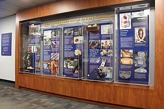National Institute of Biomedical Imaging and Bioengineering - Then and Now is a exhibit at NIH depicting innovation in biomedical technologies