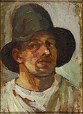 Theo van Doesburg Selfportrait with hat.jpg