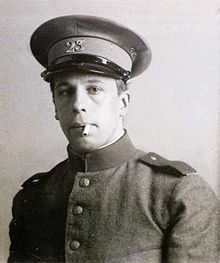 Description de l'image  Theo van Doesburg in military service.JPG.