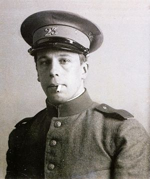 Theo van Doesburg - Theo van Doesburg as Sergeant Küpper. c 1915.