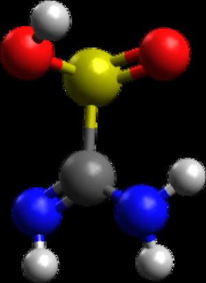 Thiourea dioxide - Image: Thiox ballandstick