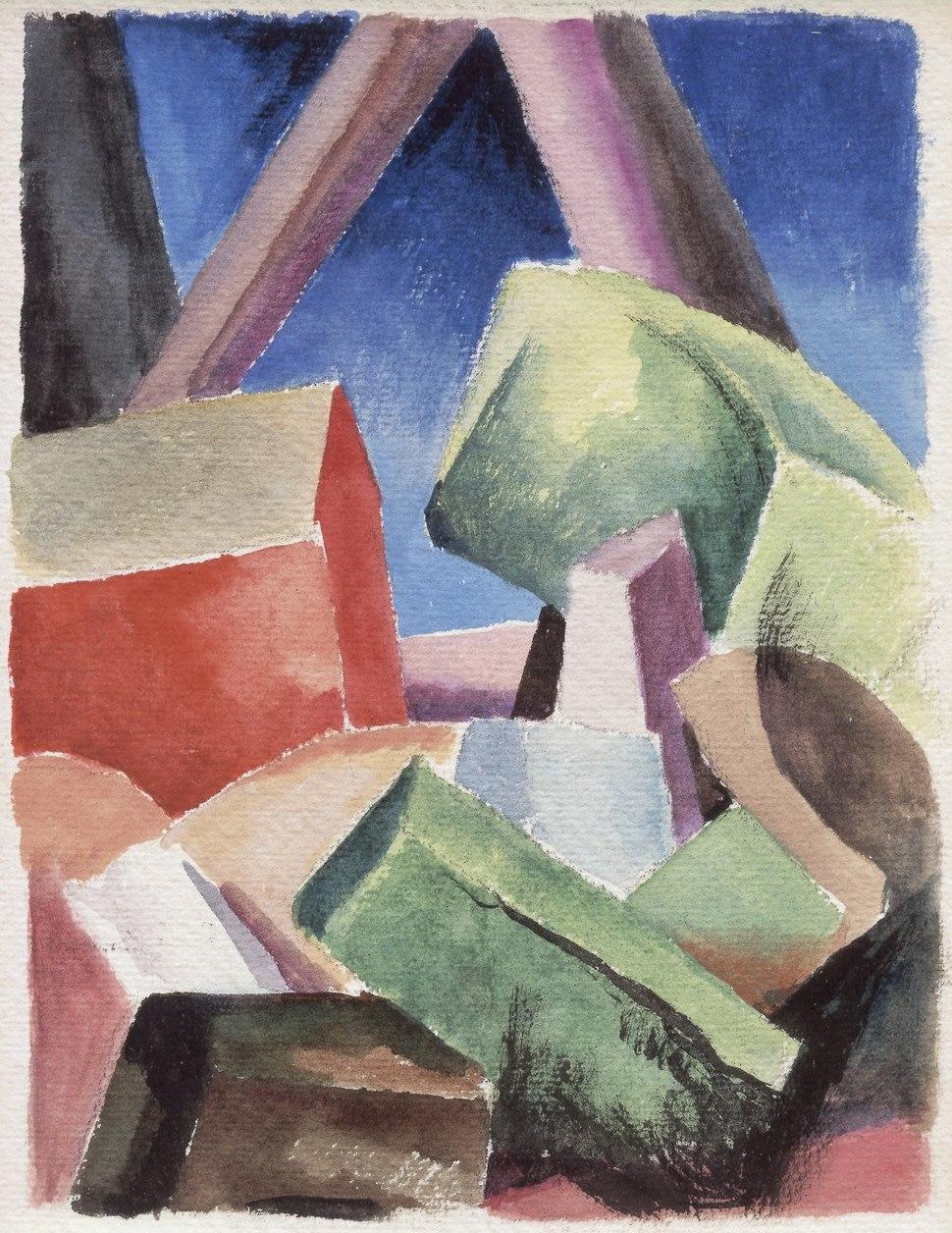 Thomas Hart Benton - House in Cubist Landscape