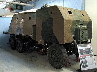 Bison concrete armoured lorry - Thornycroft, type 2 Bison on display at Bovington