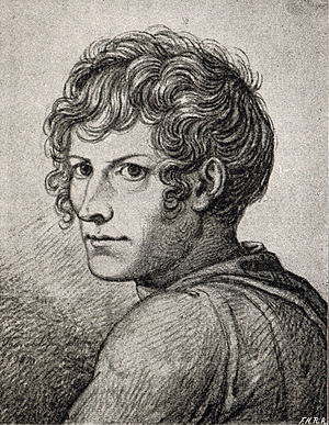 Bertel Thorvaldsen - Self-portrait by Thorvaldsen while he was a student at the Royal Academy of Arts