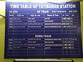 Time Table of Tatibahar railway station.jpg