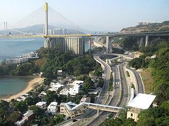 Ting Kau - Ting Kau and the Ting Kau Bridge.