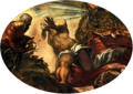 Tintoretto, Jacopo - Jonah Leaves the Whale's Belly - 1577-78.png