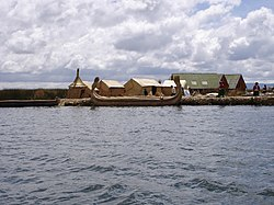 Loch Titicaca, which is pairtly locatit in the Puno Region