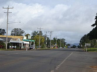Tolga, Queensland - Kennedy Highway near the intersection with Main Street, Tolga