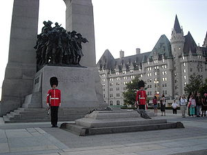 Ceremonial Guard - Two sentries at the Canadian War Memorial in Ottawa