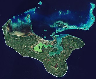Tongatapu - Satellite picture of Tongatapu