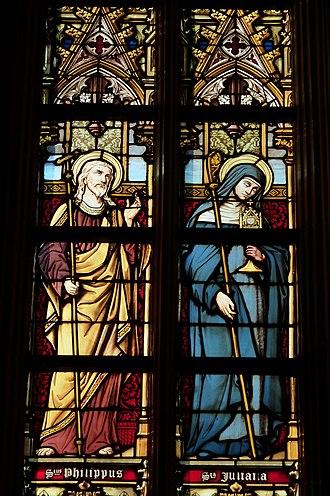 Corpus Christi (feast) - Image: Tongeren Liebfrauenbasilika Fenster Herzenstausch 740
