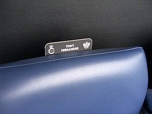 Tony Fernandes - Tony Fernandes' seat at Loftus Road