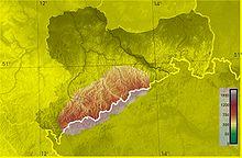 Фізична карта рудних гір
