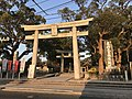 Toriis of Umi Hachiman Shrine and Stele for Emperor Ojin's Birth 4.jpg