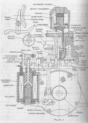 Mark 6 exploder - Mechanical drawing of the Mark6 Mod 1 exploder.