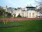 Torquay Pavilion, with St John's Church in the background.