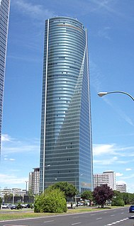 skyscraper in Madrid