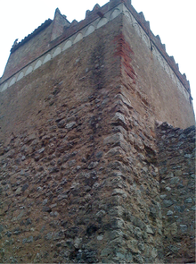 Corner of a castle tower
