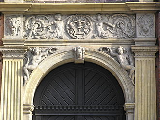 Mannerist architecture and sculpture in Poland - Esken House portal, Willem van den Blocke (c. 1590), Netherlandish-style mannerism, Toruń