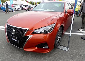 "Grille (car) - Stylized ""crown"" grille on a Toyota Crown"