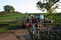 Tractor in farm entrance - geograph.org.uk - 591301.jpg