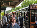 Train arriving, Horstead Keynes (9129584887).jpg