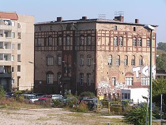 Wriezen Railway - An administrative building of the former Wriezen line freight yard in Berlin